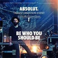 Castiga una din cele 15 invitatii duble la Transformation Event by Absolut