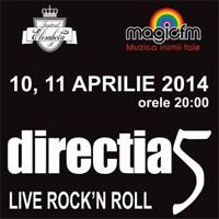 Castiga o invitatie dubla la concertele Directia 5 de la Teatrul Elisabeta
