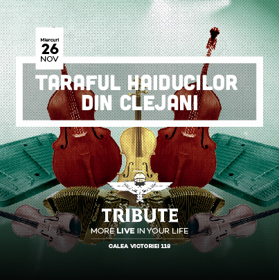 2 invitatii duble la Taraful Haiducilor din Clejani in Tribute