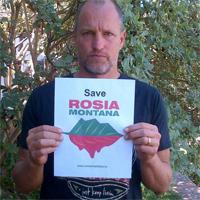 Woody Harelson sustine protestele Salvati Rosia Montana