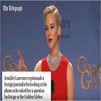 Reactia incredibila a actritei Jennifer Lawrence cand e complimentata de Jack Nicholson