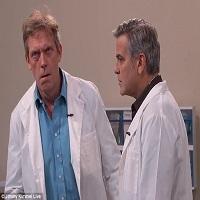 George Clooney se joaca de-a doctorul impreuna cu Jimmy Kimmel si Hugh Laurie
