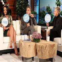 """Rihanna si George Clooney au jucat """"Never have I ever"""" cu Ellen DeGeneres, iar raspunsurile au fost pe masura"""