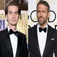 Stiri despre Filme - Care a fost motivul pentru care Andrew Garfield si Ryan Reynolds s-au sarutat la Golden Globes