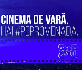 Cinema de vară - filme proiectate pe terasa la Promenada (intrare libera)