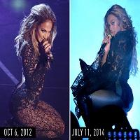 Articole despre Muzica - 17 momente de-a lungul anilor cand Beyoncé s-a imbracat fix la fel ca Jennifer Lopez