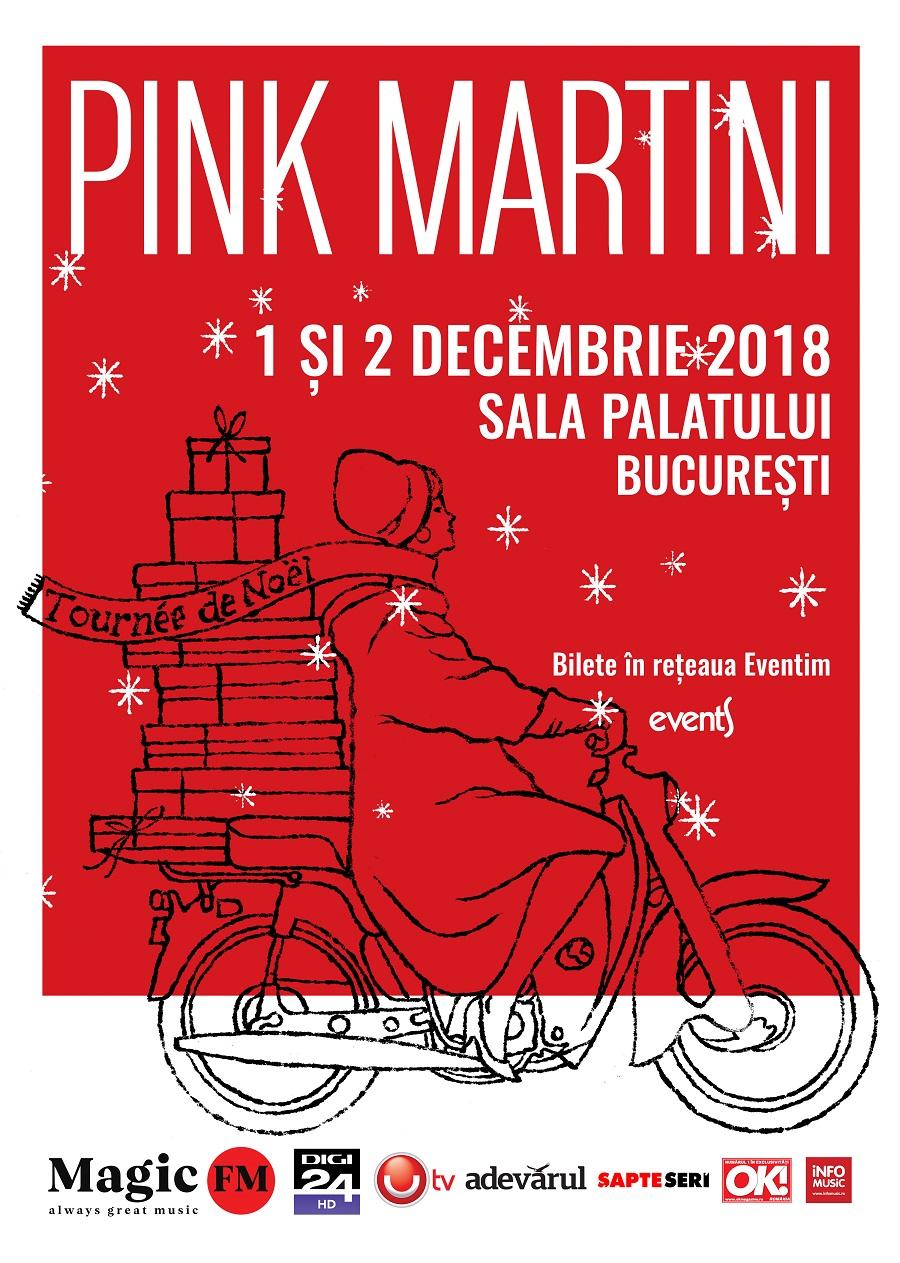 Pink Martini revine la București pe 1 și 2 decembrie 2018, cu o colecție specială de cântece de iarnă