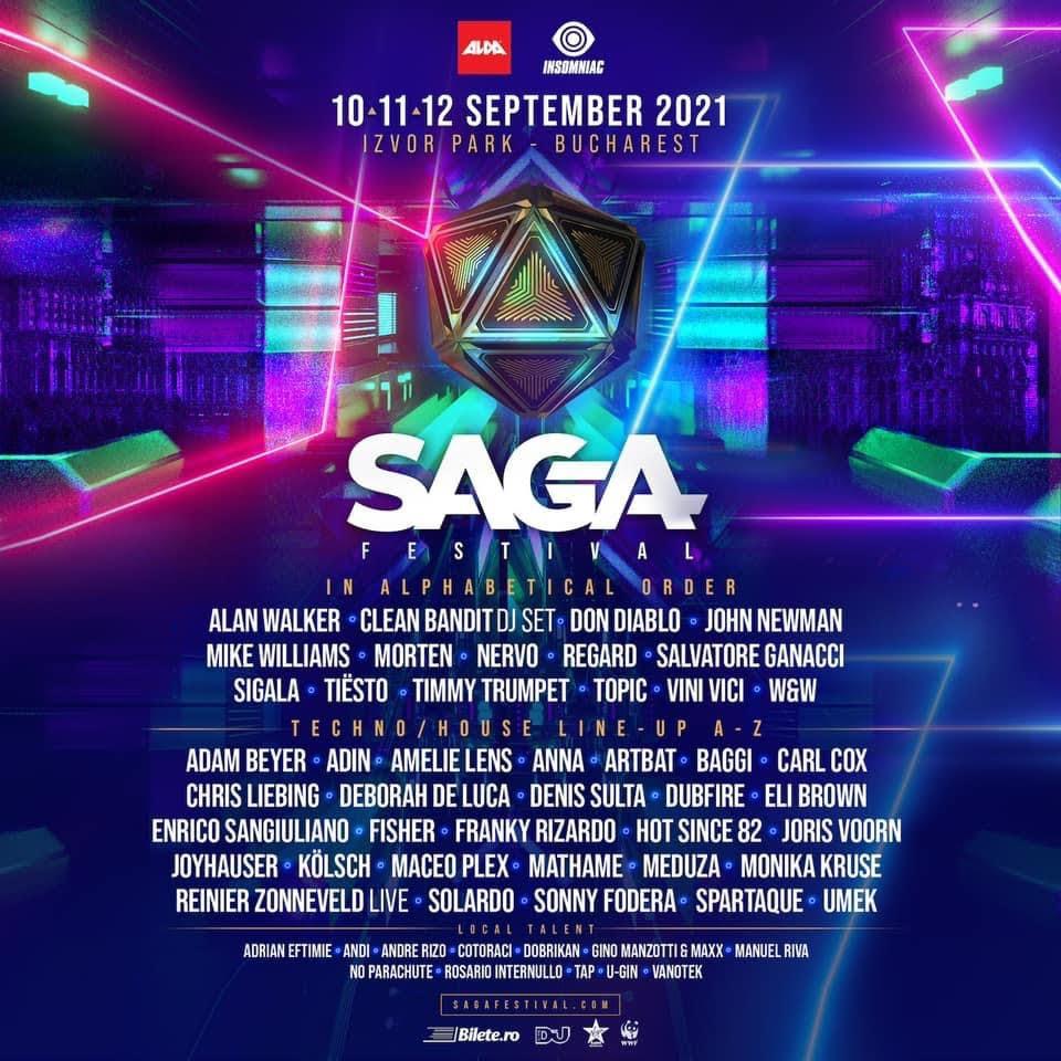 SAGA Festival prezintă, în exclusivitate anul acesta, în România: Tiësto, Don Diablo, Alan Walker și Salvatore Ganacci