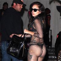 Lady Gaga, la intalnire cu prietenul doar in lenjerie intima