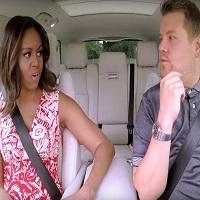 "Stiri din Muzica - A aparut pe internet clipul in care Michelle Obama participa la show-ul amuzant ""Carpool Karaoke"""