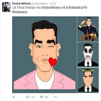 Robbie Williams si-a lansat propria aplicatie de emoticoane
