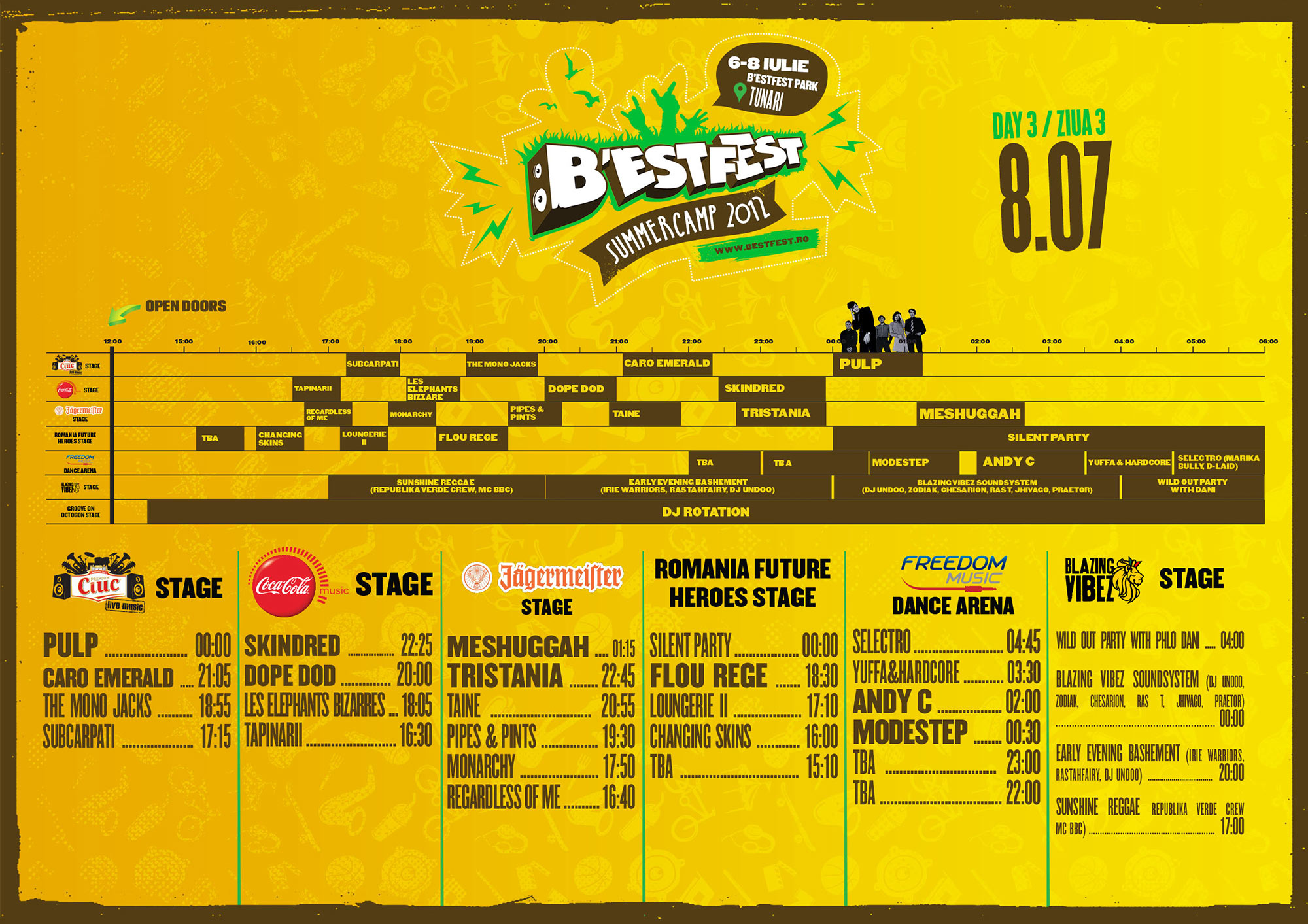 Programul complet B'Estfest - pe zile, scene si ore
