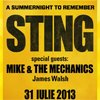 Stiri Evenimente Muzicale - Concert Sting la Romexpo pe 31 iulie