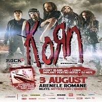 Stiri Evenimente Muzicale - Program si reguli de acces pentru concertul Korn la Bucuresti