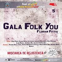 Stiri Evenimente Muzicale - Gala Folk You! Florian Pittis va avea loc in Piata George Enescu