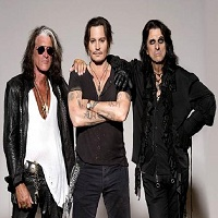 Stiri Evenimente Muzicale - The Hollywood Vampires, trupa formata din Johnny Depp, Alice Cooper si Joe Perry, vine la Bucuresti